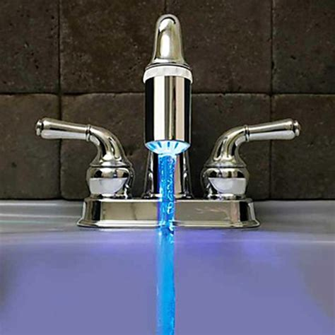 water coming out of bathtub faucet and shower head no battery water faucet glow led temperature sensor tap