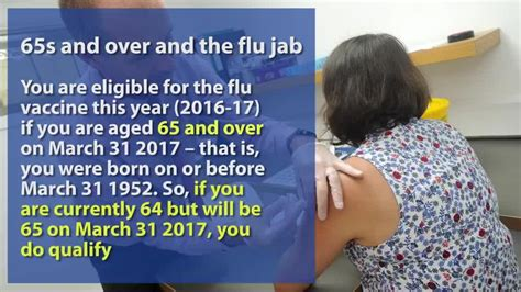 are you eligible for a free flu jab nhs issues