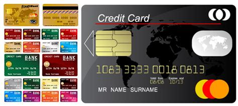 Credit Card Template Free Credit Card Template Design Vector Vector Business Free