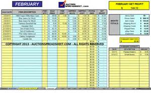 ebay spreadsheet ecommerce accounting solution auction