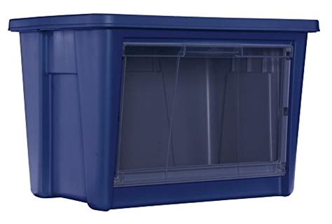 Blue Rubbermaid Large rubbermaid 1859804 access storage tote large blue