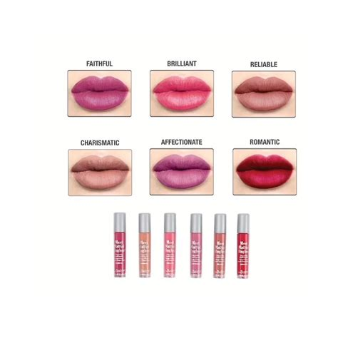 The Balm Meet Matte Hughes 6 Mini Liquid Lipstick Volume 3 The Balm Meet Matte Hughes 174 Set Of 6 Mini Lasting