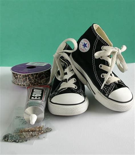 diy converse shoes diy blinged converse shoes u create