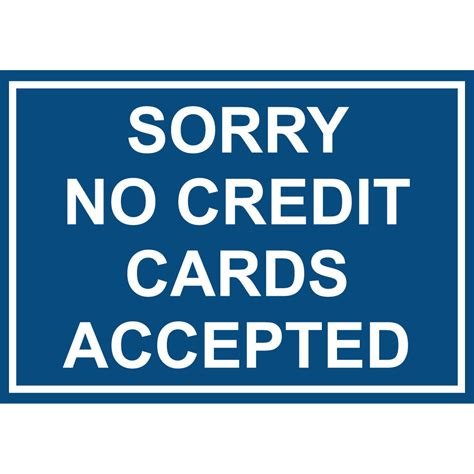 Background Check For Free Without Credit Card Sorry No Credit Cards Accepted Aluminum Metal Sign Ebay