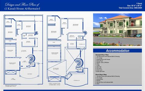 house plans 1 1 kanal house plans civil engineers pk