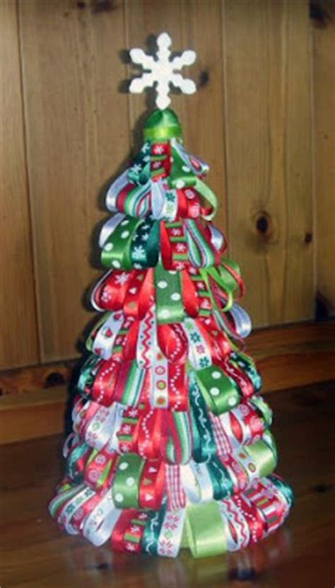 ribbon christmas tree tutorial elf creations