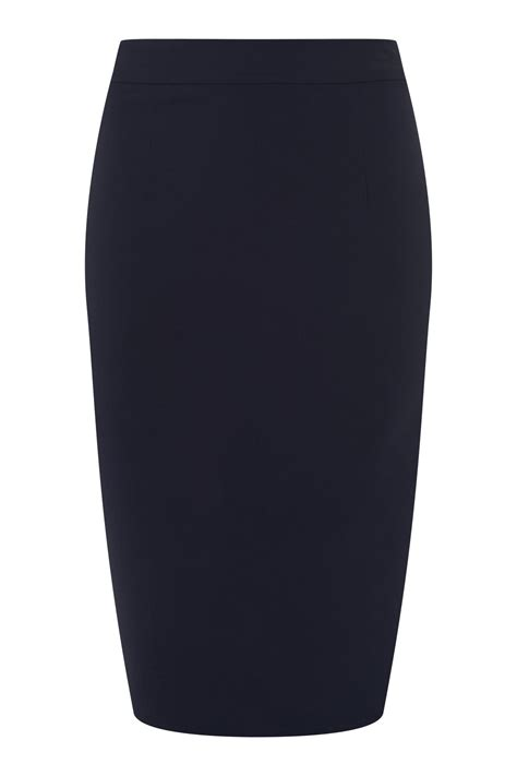 collectif polly bengaline pencil skirt in navy