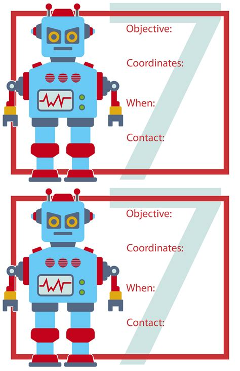 free printable robot party decorations robot birthday party wendolonia