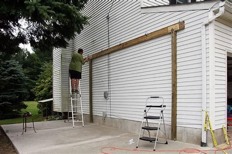 build  carport attached  house  standing