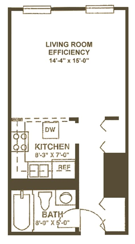 300 sq ft studio studio apartments 300 square feet floor plan design of