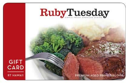 Ruby Tuesday Gift Card - ruby tuesday endless garden bar and new entrees