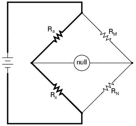 wheatstone bridge null method bridge circuits electronics forums