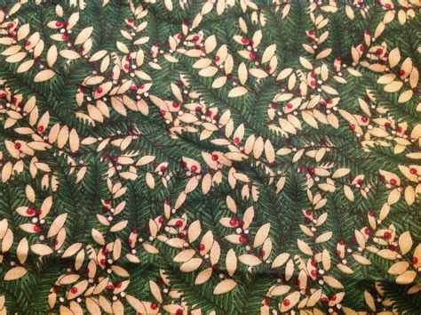 khaki foliage 3 yards of vintage green and khaki foliage print cotton