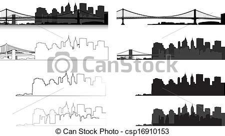 format graficzny eps cliparty wektorowe nowy york miasto sylwetka sylwetka