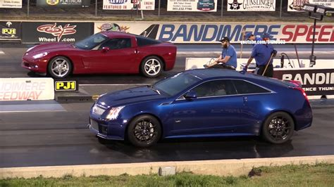 Corvette Cadillac by Chevy Corvette Vs Cadillac Cts V Coupe Drag Race