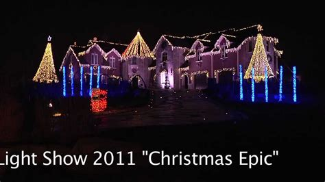 larsen s christmas light show 2011 quot christmas epic quot youtube