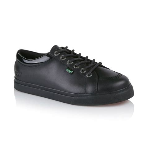 Kickers Pantofel 02 Leather Black kickers tovni lo leather trainers black shuperb