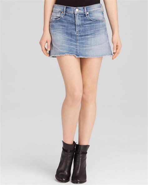 citizens of humanity denim mini skirt in echo in