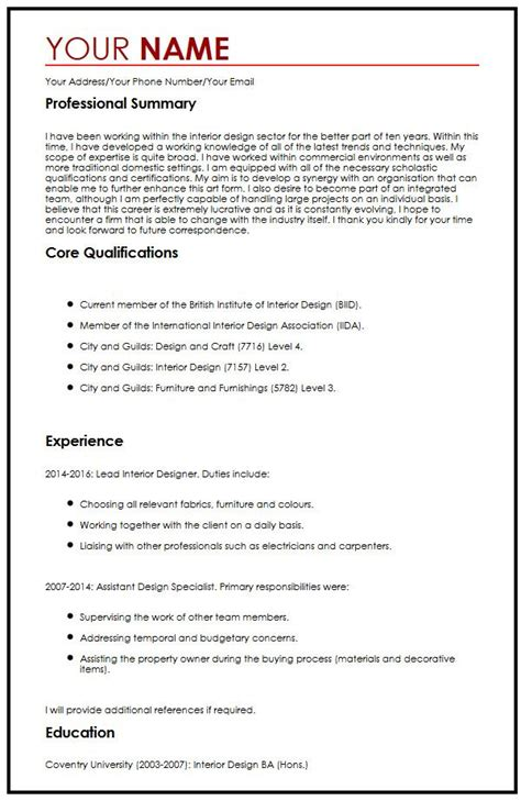 templates for cv in english cv exle in english myperfectcv