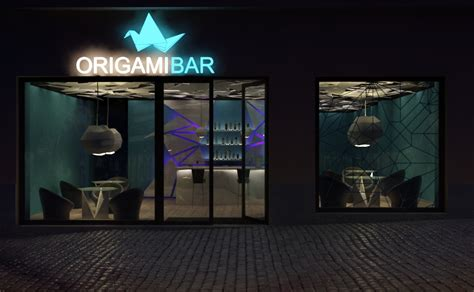 origami bar project origami bar triline studio architecture