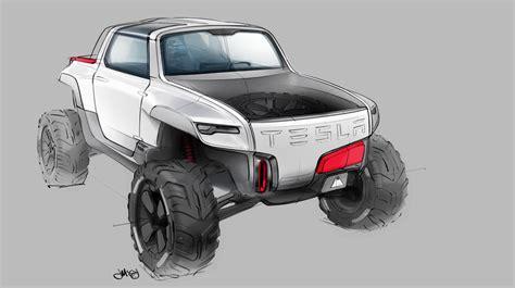 tesla jeep concept design grad renders tesla allterrain truck concept
