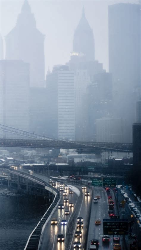 wallpaper android new york rainy new york skyline android wallpaper free download
