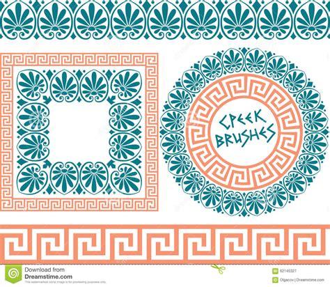 greek pattern brush set 1 brushes greek meander patterns stock vector image