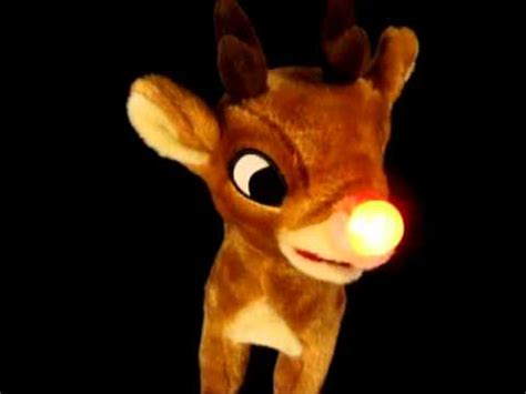 light up reindeer moving head gemmy rudolph the red nosed reindeer animated sing and