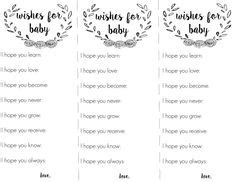 free printable wishes for baby template a email templates and its a on