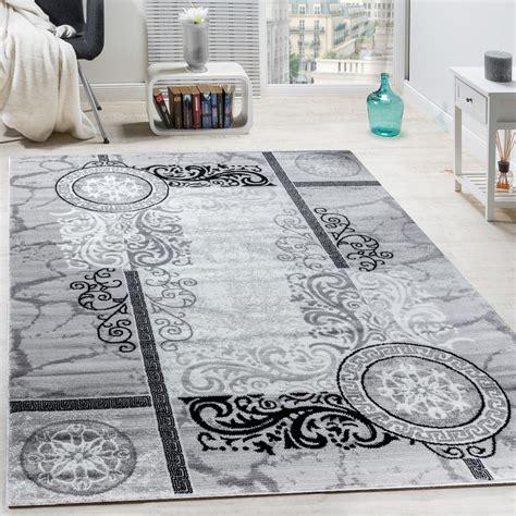 teppich grau mit muster designer teppich floral meliert grau design teppiche