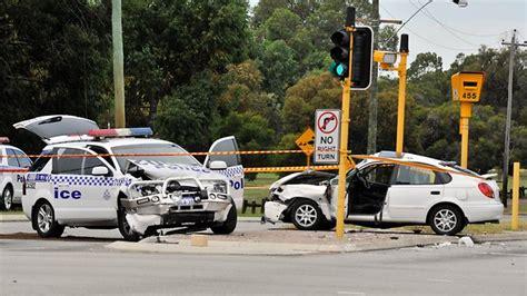perth news car crash charged cop pursuit perth now