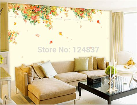large wall decals living room 110 300cm large flower wall sticker home decor butterfly stickers living room decals diy