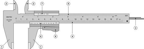 Dekko Caliper 8 Inch Analog file vernier caliper png wikimedia commons