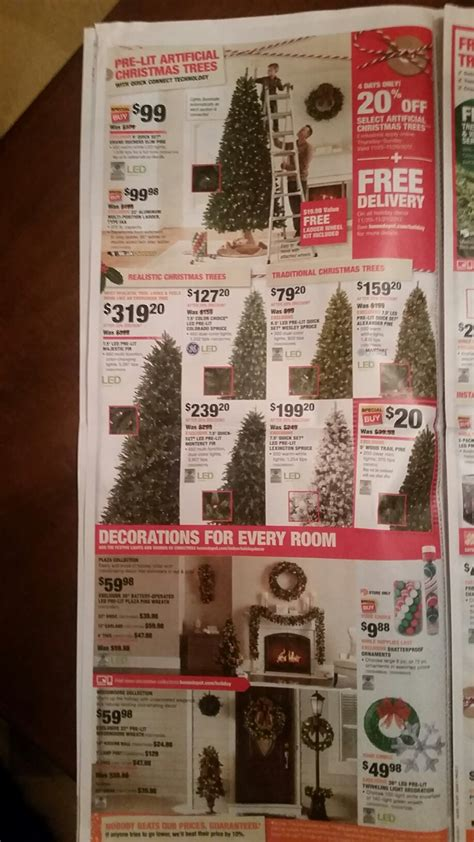 homedepot cmas tree deal home depot black friday 2018 ad deals funtober