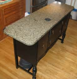 Old buffet base re purposed as a kitchen island great idea becky