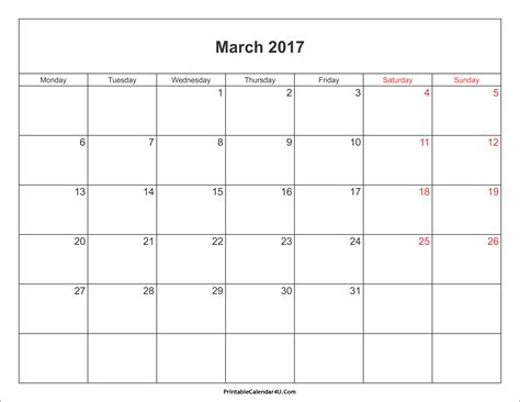 printable calendar april 2016 march 2017 march 2017 calendar printable with holidays pdf and jpg