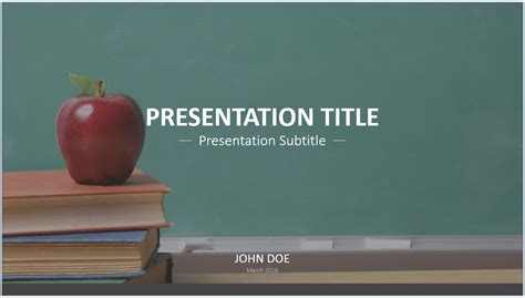 Free Education Powerpoint Template 7576 Sagefox Powerpoint Templates Education Powerpoint Templates