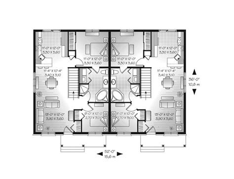 ranch duplex floor plans lionsgate ranch duplex home plan 032d 0716 house plans and more