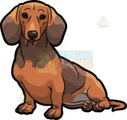 adorable dachshund dog sitting cartoon clipart