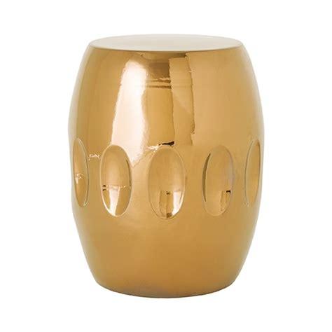 Gold Ceramic Stool by Gold Ceramic Garden Stool Seven Colonial