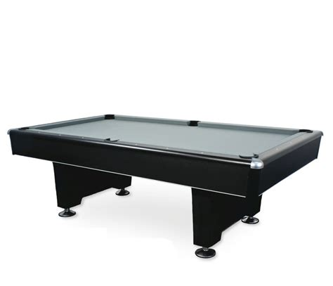 black commercial pool table