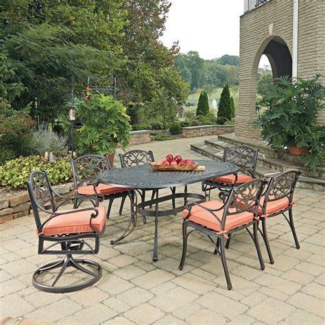 hton bay oak cliff 7 piece metal outdoor dining set hton bay hton bay oak cliff 7 piece metal outdoor