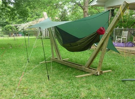 Portable Hammock Stand Diy portable hammock stands for cing by derek hansen section hikers backpacking