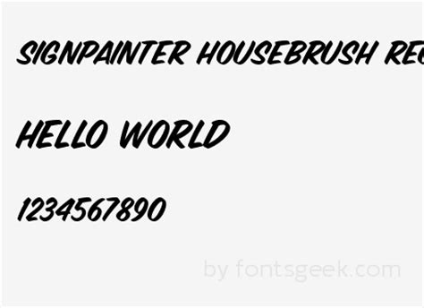 sign painter house brush font signpainter housescript regular download for free view