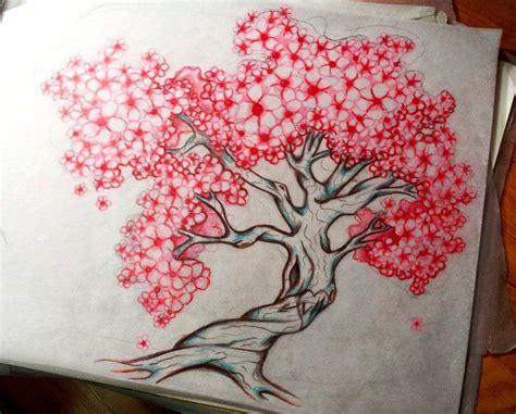 cherry tree designs cherry blossom drawing idea on cherry blossom tattoos cherry blossoms and