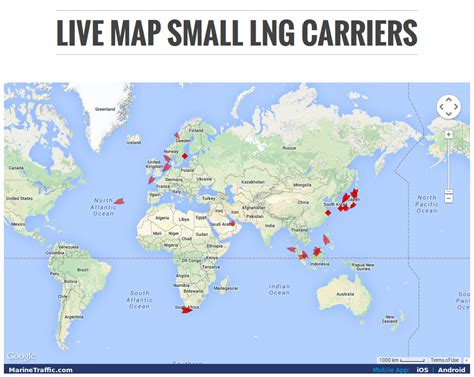maps live live map of small scale lng ships in the world small
