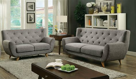 linen fabric sofa set living room furniture couch velvet carin mid century modern style light gray linen fabric