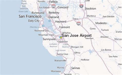 san jose california map location san jose airport weather station record historical