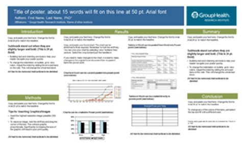 Group Health Research Poster Templates Makesigns Com Scientific Posters Http Www Makesigns Sciposters Templates Aspx