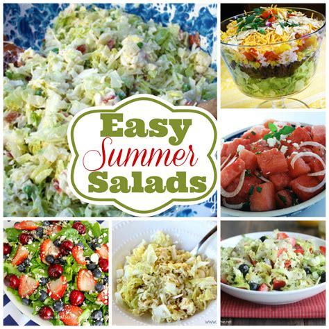 easy salad recipes 6 easy summer salad recipes